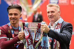 May 27, 2019 - London, England, United Kingdom - Jack Grealish (10) of Aston Villa  and Aston Villa Manager Dean Smith during the Sky Bet Championship match between Aston Villa and Derby County at Wembley Stadium, London on Monday 27th May 2019. (Credit: Jon Hobley | MI News) (Credit Image: © Mi News/NurPhoto via ZUMA Press)