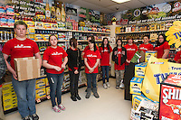Sticker Shock program visits Vista Foods in Laconia with LMS JAG students.   Karen Bobotas for the Laconia Daily Sun