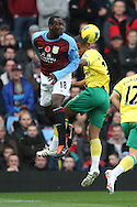 Picture by Paul Chesterton/Focus Images Ltd.  07904 640267.5/11/11.Kyle Naughton of Norwich and Emile Heskey of Aston Villa in action during the Barclays Premier League match at Villa Park stadium, Birmingham.
