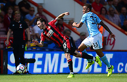 Gabriel Jesus of Manchester City fouls Adam Smith of Bournemouth - Mandatory by-line: Alex James/JMP - 26/08/2017 - FOOTBALL - Vitality Stadium - Bournemouth, England - Bournemouth v Manchester City - Premier League