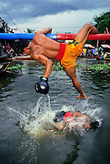 WATER BOXING, THAILAND loser takes a dunk, (Bang Phli festival)