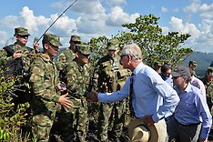 OCT 30 2014 Prince Charles visit to the military base of Cano Cristal
