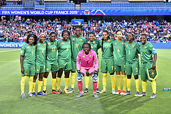 6?10????????????????.Players of Cameroon pose for photos before..???????????????2019?6?11?.?????????——E??????????????.?????????????2019??????????E???????????1?0??????.?????????..(SP)FRANCE-RENNES-2019 FIFA WOMEN'S WORLD CUP-GROUP E-CANADA VS CAMEROON..(190611) -- MONTPELLIER, June 11, 2019  the group E match between Canada and Cameroon at the 2019 FIFA Women's World Cup in Montpellier, France on June 10, 2019. Canada won 1-0. (Credit Image: © Xinhua via ZUMA Wire)