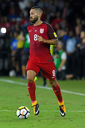 October 6, 2017 - Orlando, Florida, USA - United States forward Clint Dempsey (8) brings the ball upfield during a World Cup qualifying game against Panama at Orlando City Stadium on Oct. 6, 2017 in Orlando, Florida. The US won 4-0....ZUMA Press/Scott A. Miller (Credit Image: © Scott A. Miller via ZUMA Wire)