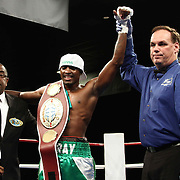 "Welterweight boxing pro ""The New"" Ray Robinson of Philadelphia, PA defeats Welterweight boxing pro Daniel Sostre Friday, Nov 21, 2014 at The Case Center on The River Front in Wilmington, Del."