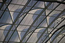 EDINBURGH, SCOTLAND - Sunday, October 30, 2016: The roof of the Astrodome during the opening match of the Under-16 2016 Victory Shield between Scotland and Northern Ireland at ORIAM. (Pic by David Rawcliffe/Propaganda)