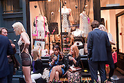 Dirty Pretty Things - summer party. Lingerie line hosts  party celebrating its new online shop and showcasing the latest collection. The Lingerie Collective, 8 Ganton Street, Soho. London, 15 June 2011<br /> <br />  , -DO NOT ARCHIVE-© Copyright Photograph by Dafydd Jones. 248 Clapham Rd. London SW9 0PZ. Tel 0207 820 0771. www.dafjones.com.