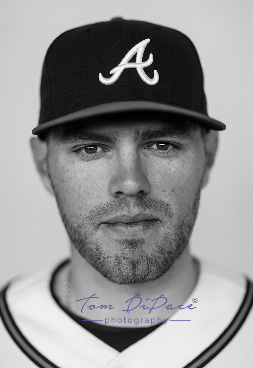 Atlanta Braves Freddie Freeman poses for a portrait on 2.22.17<br /> ( Photo/Tom DiPace)