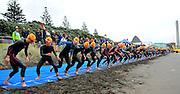 Start of the Elite woman's<br />  2015 New Plymouth ITU Triathlon World Cup held at Ngamotu beach New Plymouth Sunday 22nd March.<br /> Photo John Velvin ESPNZ<br /> www.elitesportsphotographynz.com
