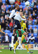 Picture by Chris Donnelly/Focus Images Ltd. 07500 903009 .17/9/11.David N Gog of Bolton misses the final touch of the game during the Barclays Premier League match at Reebok stadium, Bolton.