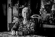 Portrait of Mercedes Fernandez, mother of desaparecido Luis Aguayo Fernandez, at home in Parral. March 2018