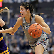HARTFORD, CONNECTICUT- JANUARY 4: Kia Nurse #11 of the Connecticut Huskies drives to the basket defended by Fanni Csutoras #13 of the East Carolina Lady Pirates during the UConn Huskies Vs East Carolina Pirates, NCAA Women's Basketball game on January 4th, 2017 at the XL Center, Hartford, Connecticut. (Photo by Tim Clayton/Corbis via Getty Images)