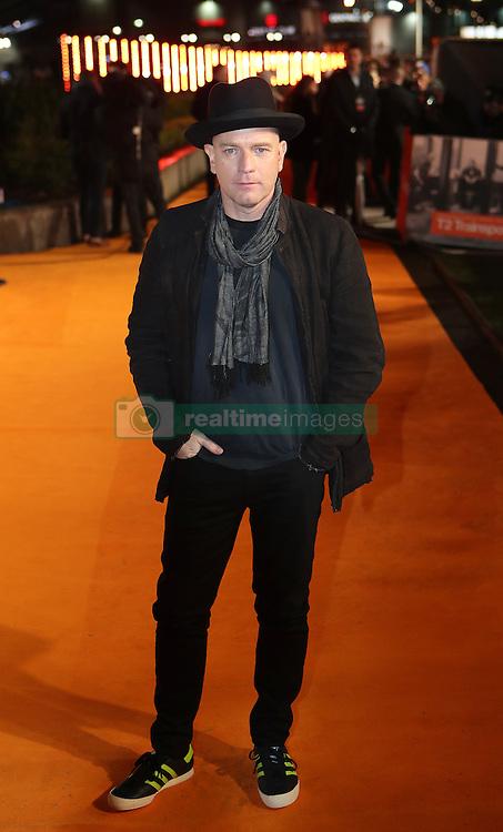 Ewan McGregor arriving at the world premiere of Trainspotting 2 at Cineworld in Edinburgh.