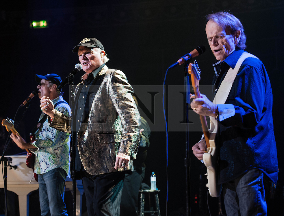 © Licensed to London News Pictures. 27/09/2012. London, UK. Dave Marks (left), Mike Love (centre) and Al Jardine (right) of The Beach Boys performing live at The Royal Albert Hall, London, as part of their 50th Anniversary Tour.  It is reported that this is the final tour that Love, Wilson and Jardine will play together as The Beach Boys - with Love planning on continuing the band with different band members. Photo credit : Richard Isaac/LNP