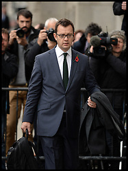 The Prime Minister David Cameron's ex spin doctor Andy Coulson arrive's at the The Old Bailey, London, for the Phone Hacking Trial. Friday, 1st November 2013. Picture by Andrew Parsons / i-Images