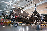 July 30, 2014. Hamilton, Ontario, Canada. The Canadian Warplane Heritage Museum will be flying their prized Avro Lancaster to England to join the only other airworthy Lancaster in the world, owned and operated by the Royal Air Force's renowned Battle of Britain Memorial Flight.<br /> .<br /> Photo Copyright John Chapple / www.JohnChapple.com