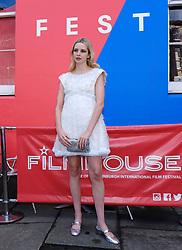 Edinburgh International Film Festival 2019<br /> <br /> Hurt By Paradise (World Premiere)<br /> <br /> Stars and guests arrive on the red carpet for the world premiere<br /> <br /> Pictured: Director Greta Bellamacina<br /> <br /> Aimee Todd | Edinburgh Elite media