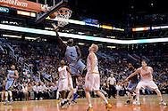 Mar 21, 2016; Phoenix, AZ, USA; Memphis Grizzlies forward Lance Stephenson (1) drives the ball against the Phoenix Suns in the second half at Talking Stick Resort Arena. The Memphis Grizzlies won 103-97. Mandatory Credit: Jennifer Stewart-USA TODAY Sports