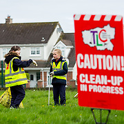 04.04.2017         <br /> St. Brigids National School, Singland Limerick were off the mark early for TLC3. <br /> Pictured during the clean up were, Sarah O'Sullivan and Alannah O'Connor. Picture: Alan Place
