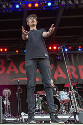 July 3, 2018 - Milwaukee, Wisconsin, U.S - DANIEL ARMBRUSTER of Joywave during Summerfest Music Festival at Henry Maier Festival Park in Milwaukee, Wisconsin (Credit Image: © Daniel DeSlover via ZUMA Wire)