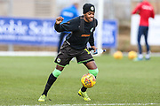 Forest Green Rovers Reece Brown(10) warming up during the EFL Sky Bet League 2 match between Stevenage and Forest Green Rovers at the Lamex Stadium, Stevenage, England on 26 January 2019.