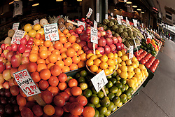 North America, United States, Washington, Seattle, fruits and vegetables at Pike Place Market