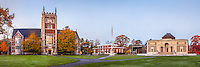 A panorama of Bowdoin College