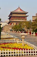 Chine, province du Shaanxi, ville de Xi'an, Tour du Tambour // China, Shaanxi province, Xian, Drum Tower
