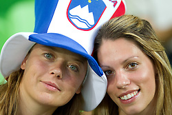 Fans during the  opening friendly football match of a new stadium in Stozice between National teams of Slovenia and Australia on August 11, 2010 in Ljubljana. Slovenia defeated Australia 2-0. (Photo by Vid Ponikvar / Sportida)