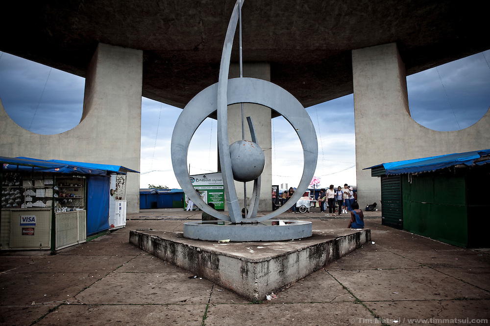 Sculpture at the footings of the TV tower in Brasilia, Brazil.