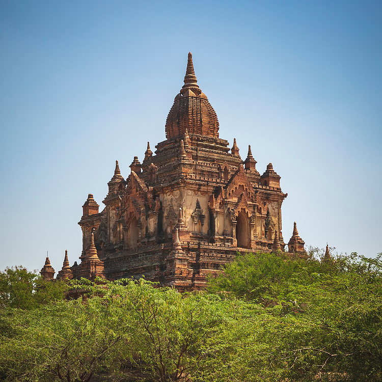 One of several thousand temples on the plains of Bagan, Myanmar