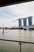 View of Marina Bay Sands from Fullerton Bay hotel, Singapore