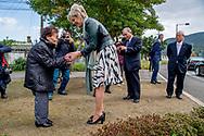 NAGASAKI - Prinses Laurentien bezoekt het Fukuoka-2 monument dat werd opgericht ter herinnering aan de slachtoffers van krijgsgevangenkamp Fukuoka-2 waaronder ook 41 Nederlandse krijgsgevangenen. ANP ROYAL IMAGES ROBIN UTRECHT