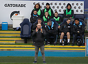 Manchester City Women's manager Nick Cushing gestures during the FA Women's Super League match between Manchester City Women and West Ham United Women at the Sport City Academy Stadium, Manchester, United Kingdom on 17 November 2019.