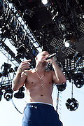 Rene' Perez Joglar aka Residente of the band Calle 13 performs on the main Coachella Stage at the 2010 Coachella Music Festival in Indio, CA on Friday, April 16, 2010.