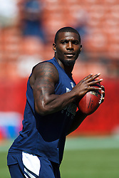September 18, 2011; San Francisco, CA, USA; Dallas Cowboys wide receiver Dez Bryant (88) warms up before the game against the San Francisco 49ers at Candlestick Park.  Dallas defeated San Francisco 27-24 in overtime.