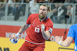 Horak Pavel of Czech Republic during handball match between National teams of Slovenia and Czech Republic on Day 7 in Main Round of Men's EHF EURO 2018, on January 24, 2018 in Arena Varazdin, Varazdin, Croatia. Photo by Mario Horvat / Sportida