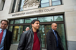 "© Licensed to London News Pictures. 23/03/2016. London, UK.""Flash crash"" Trader NAVINDER SINGH SARAO (centre) leaves Westminster Magistrates court in London where a Judge has ruled that he should be extradited to the USA. Sarao, nicknamed the Hound of Hounslow, is accused of contributing to the 2010 flash crash. He has been charged with 22 counts of fraud and market manipulation by the US authorities who want to extradite him. Photo credit: Ben Cawthra/LNP"