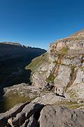 View over the Ordesa Valley from Clavijas de Soaso, Ordesa National Park and Monte Perdido, Torla, Ordesa Valley, Huesca province, Aragón Pyrenees, Aragon ,Spain, Europe