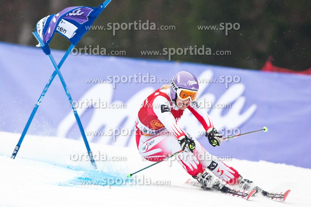 11.03.2010, Kandahar Strecke Damen, Garmisch Partenkirchen, GER, FIS Worldcup Alpin Ski, Garmisch, Lady Giant Slalom, im Bild Kirchgasser Michaela, ( AUT, #13 ), Ski Atomic, EXPA Pictures © 2010, PhotoCredit: EXPA/ J. Groder /SPORTIDA PHOTO AGENCY