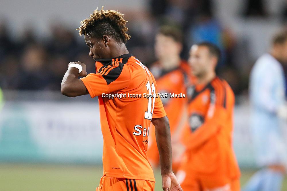 Deception Didier NDONG - 18.04.2015 - Lorient / Toulouse - 33eme journee de Ligue 1<br />Photo : Vincent Michel / Icon Sport