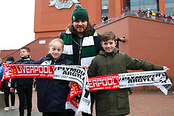 Plymouth Argyle fans outside Anfield - Mandatory by-line: Matt McNulty/JMP - 08/01/2017 - FOOTBALL - Anfield - Liverpool,  - Liverpool v Plymouth Argyle - Emirates FA Cup third round