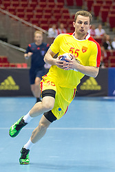 10.04.2016, Ergo Arena, Gdansk, POL, IHF Herren, Olympia Qualifikation, Chile vs Mazedonien, im Bild Nikola Kosteski // during the IHF men's Olympic Games handball qualifier between Chile and Macedonia at the Ergo Arena in Gdansk, Poland on 2016/04/10. EXPA Pictures © 2016, PhotoCredit: EXPA/ Newspix/ Tomasz Zasinski<br /> <br /> *****ATTENTION - for AUT, SLO, CRO, SRB, BIH, MAZ, TUR, SUI, SWE only*****