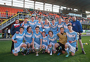 Monifieth with the U16 Dundee United Cup (sponsored by Arab Trust) after beating Grove Academy 5-4 in the final at Tanandice<br /> <br />  - &copy; David Young - www.davidyoungphoto.co.uk - email: davidyoungphoto@gmail.com