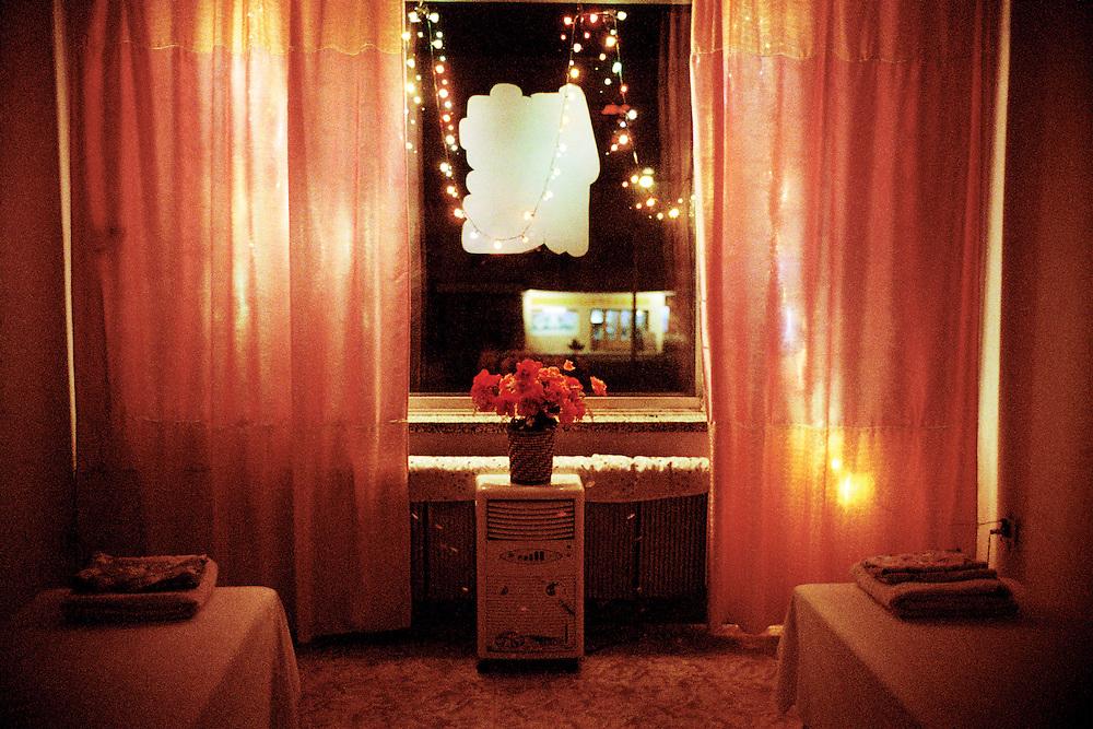 Luxury massage parlour. Sino Russian and North Korean Tri- Border. Hunchun, China. 2002