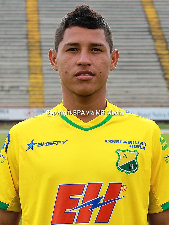 Colombia League - Liga Aguila 2015-2016 - <br /> Club Deportivo Atletico Huila - Colombia / <br /> Jean Carlos Becerra Cuello