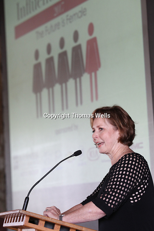 Mississippi Supreme Court Justice Ann Lamar delivers the keynote address duirng Tuesday's 2017 Influential Women luncheon held at the J.J. Rogers Building in Tupelo.