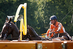 De Ronde Koos, (NED), Alino, Palero, Santana, Ulano<br /> Marathon Driving Competition<br /> FEI European Championships - Aachen 2015<br /> © Hippo Foto - Dirk Caremans<br /> 22/08/15