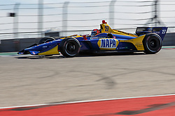 February 12, 2019 - U.S. - AUSTIN, TX - FEBRUARY 12: Alexander Rossi (27) in a Honda powered Dallara IR-12 at turn 1 during the IndyCar Spring Training held February 11-13, 2019 at Circuit of the Americas in Austin, TX. (Photo by Allan Hamilton/Icon Sportswire) (Credit Image: © Allan Hamilton/Icon SMI via ZUMA Press)