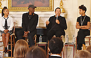 Michelle Obama,Smokey Robinson, Whoopi Goldberg, MC LYte, Esperanza Spalding, Toy Andrews, Trombone SHorty, Keb Mo at the WHite House  to mark 50th Anniversary of the Arts w children form Herndon Middle School, Saunders Middle School,Phomas G.Pullan Performing Arts School.Bob Santelli Head of the Grammy Museum